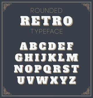 Alfabeto arredondado retro