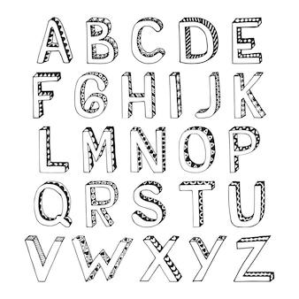 Alfabeto com decoração ornamental