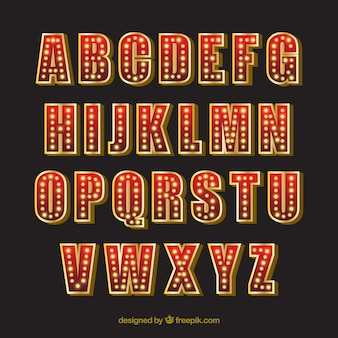 Alfabeto de néon