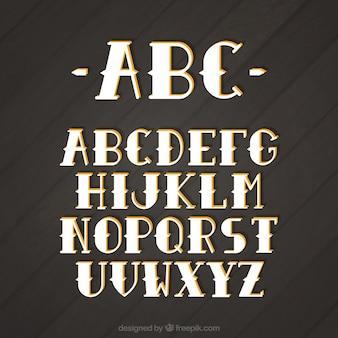 Alfabeto no estilo do vintage