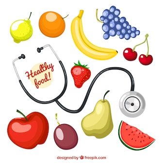 Alimentos saudáveis Ilustrado