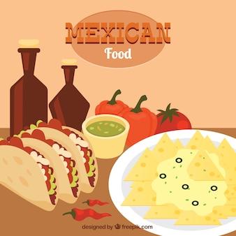 Almoço mexicano saborosa