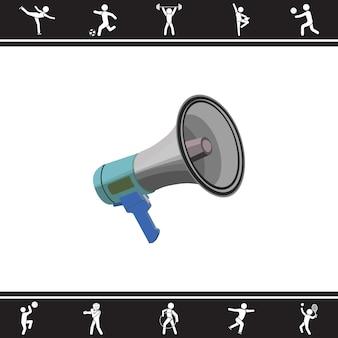 Alto falante. ilustração vetorial
