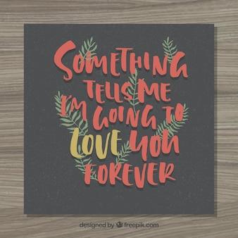 Amar lettering para sempre