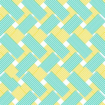 Amarelo e azul linhas zig zag padrão de fundo