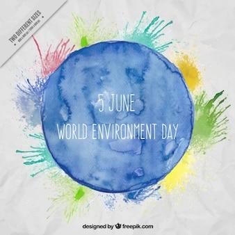 ambiente de mundo Fundo da aguarela dia