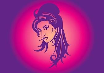 Amy winehouse legal ilustração vetorial