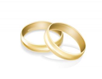 Anéis de casamento de ouro