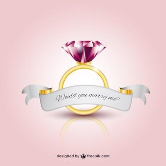 Anel de casamento com um diamante
