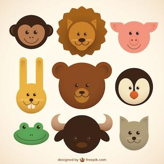 Animais do bebê ícones