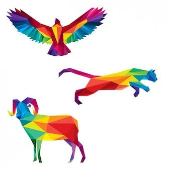 Animais selvagens poligonais