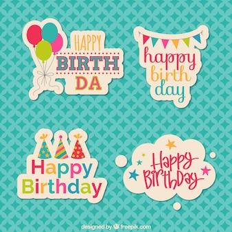 Aniversário autocolantes