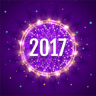 Ano novo 2017 o fundo brilhante