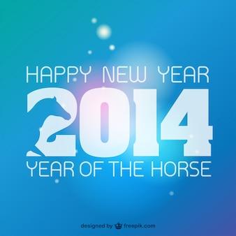 Ano novo chinês 2014 vetor