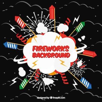 Antecedentes de fogos de artifício e foguetes