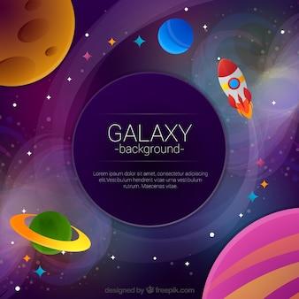 Antecedentes de planetas com foguete