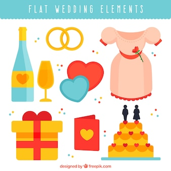 Apartamento, pacote, decorativo, casamento, elementos