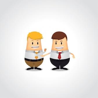 Aperto de mão de dois homens de negócio