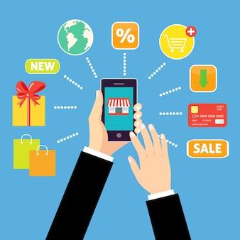 Aplicação móvel, os serviços