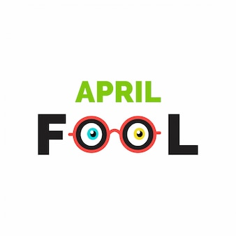 April Fools Day lettering tipografia no fundo whtie para o anúncio cartão poster promoção de marketing do artigo sinalização e-mail vetor