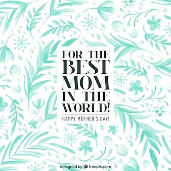 Aquarela fundo das folhas de dia das mães