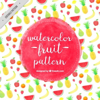 Aquarela padrão pouco de frutas
