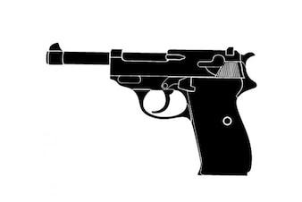 Arma da vista lateral