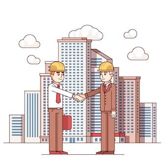 Arquiteto imobiliário e acordo de acordo com a cidade