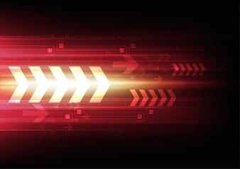 Arrow tech background