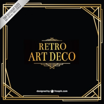 Art deco retro fundo