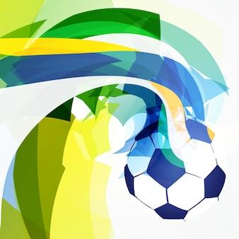 Arte abstrata elegante design design de futebol