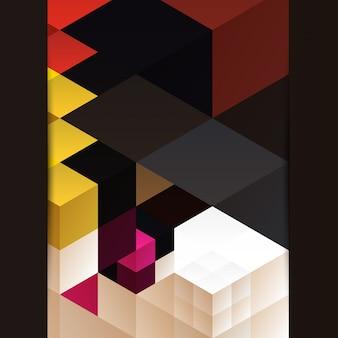 Arte colorida de design de fundo colorido