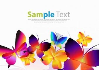 Arte colorida do vetor borboletas