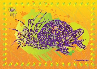 arte vetorial tartaruga