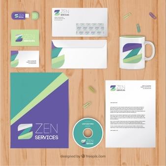 artigos de papelaria abstratos da empresa