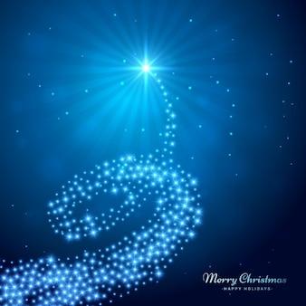 Árvore de Natal abstrata brilhante
