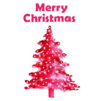Árvore de Natal abstrata da aguarela