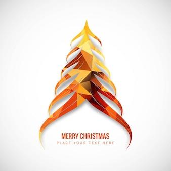 Árvore de Natal abstrata em tons alaranjados