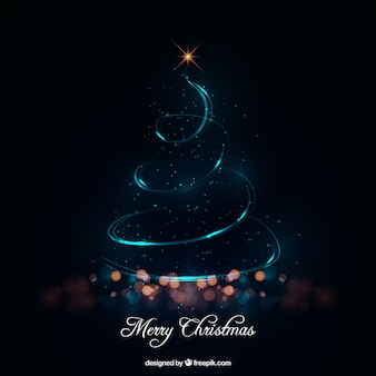 Árvore de Natal abstrata feita das luzes