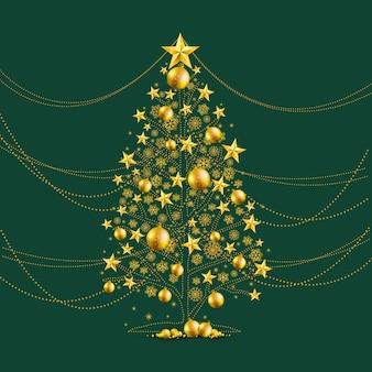 Árvore de Natal do ouro