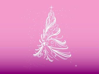 Árvore de Natal feita de fitas