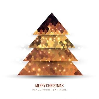Árvore de Natal feita de lantejoulas