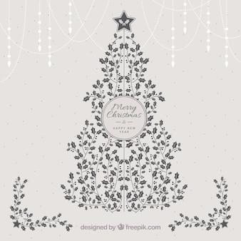 Árvore de Natal feita do visco