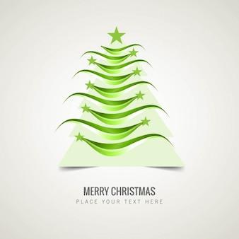 Árvore de Natal verde ondulado