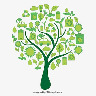 Árvore feita de ícones do eco
