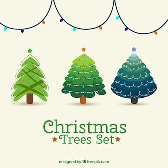 Árvores de natal bom conjunto