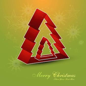 Árvores de Natal de fundo vermelho
