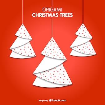 árvores de Natal de Origami