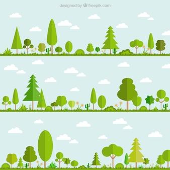 Árvores verdes