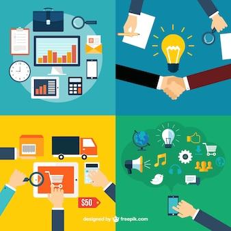 As funções corporativas ícones